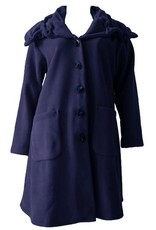 Boris BORIS- Pukker Coat in Navy