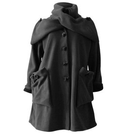 Boris BORIS- Button Coat in Grey