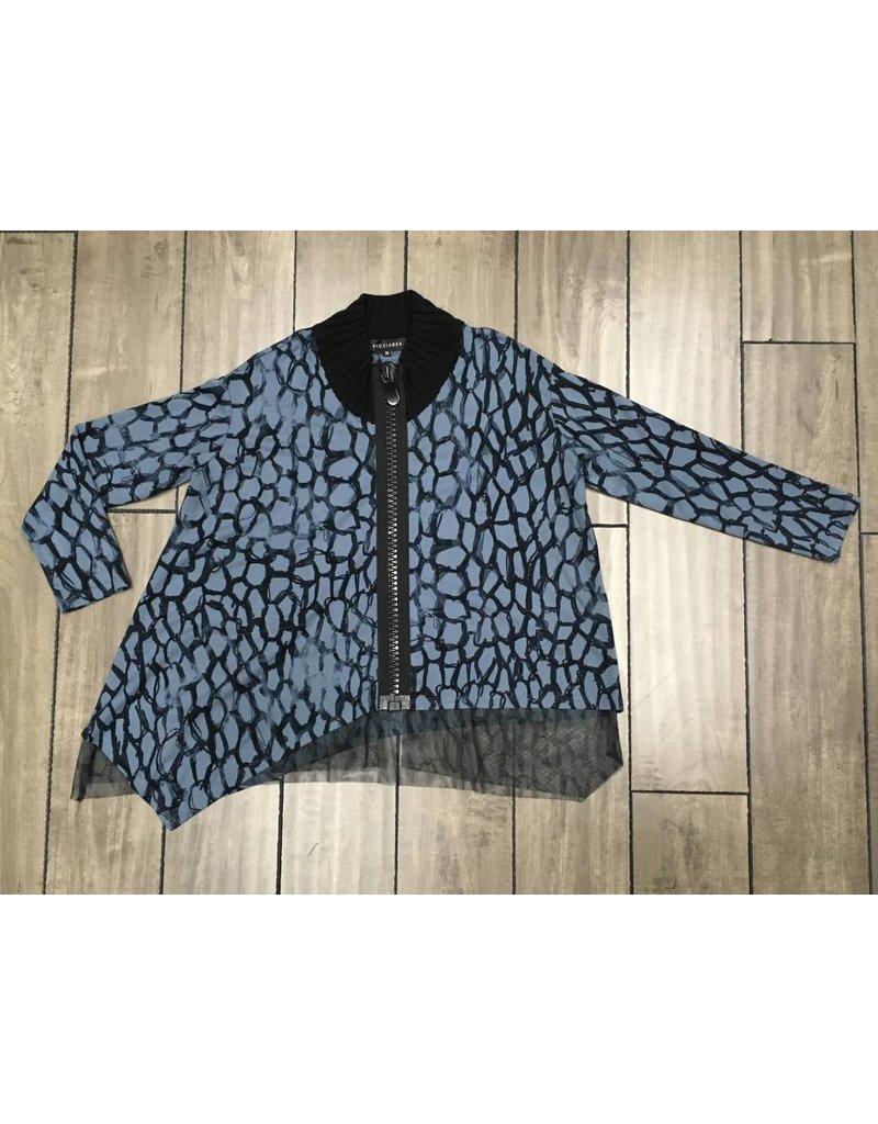 KEDZIOREK Kedziorek- Zip Jacket in Blue