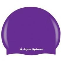 Aqua Lung Swim Cap FASHION Purple w/silver