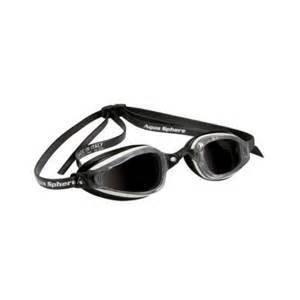 AquaSphere K-180+ Goggle, smoke lens, White & Black