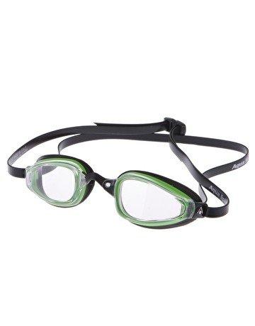 AquaSphere K-180+ Goggle, clear lens, Green & Black