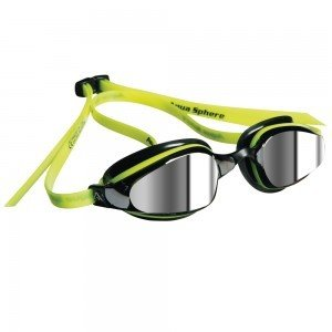 AquaSphere K-180 Goggle, mirrored lens, Yellow & Black