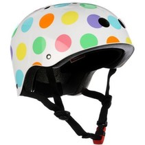kiddimoto helmet - pastel dotty - small 2y-5y