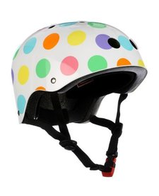 kiddimoto helmet - pastel dotty - small 2y-5y