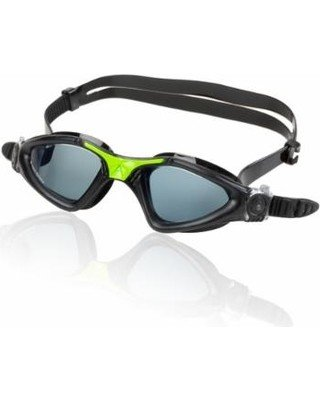 AquaSphere KAYENNE Goggle, smoke lens, black w/green accents
