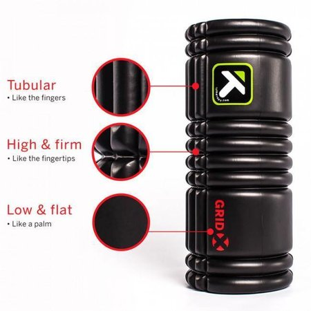Trigger Point Trigger Point The Grid X Foam Roller: 13-inch Roller, Black
