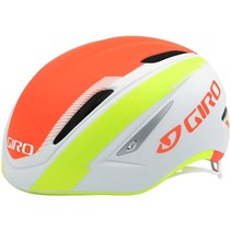 GIRO AIR ATTACK Cycling Helmet, M, Matte White/Lime/Flame 16 US