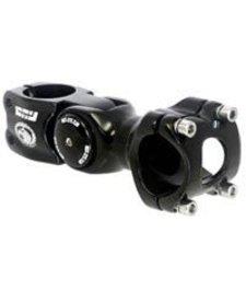 Kalloy Uno 820 Adjustable Stem, 31.8 x 110mm, Black