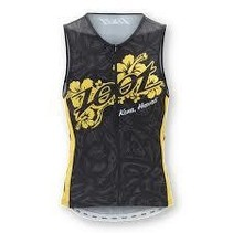 Zoot Men's ULTRA TRI ALI'I TANK BLACK/ZOOT_YELLOW S