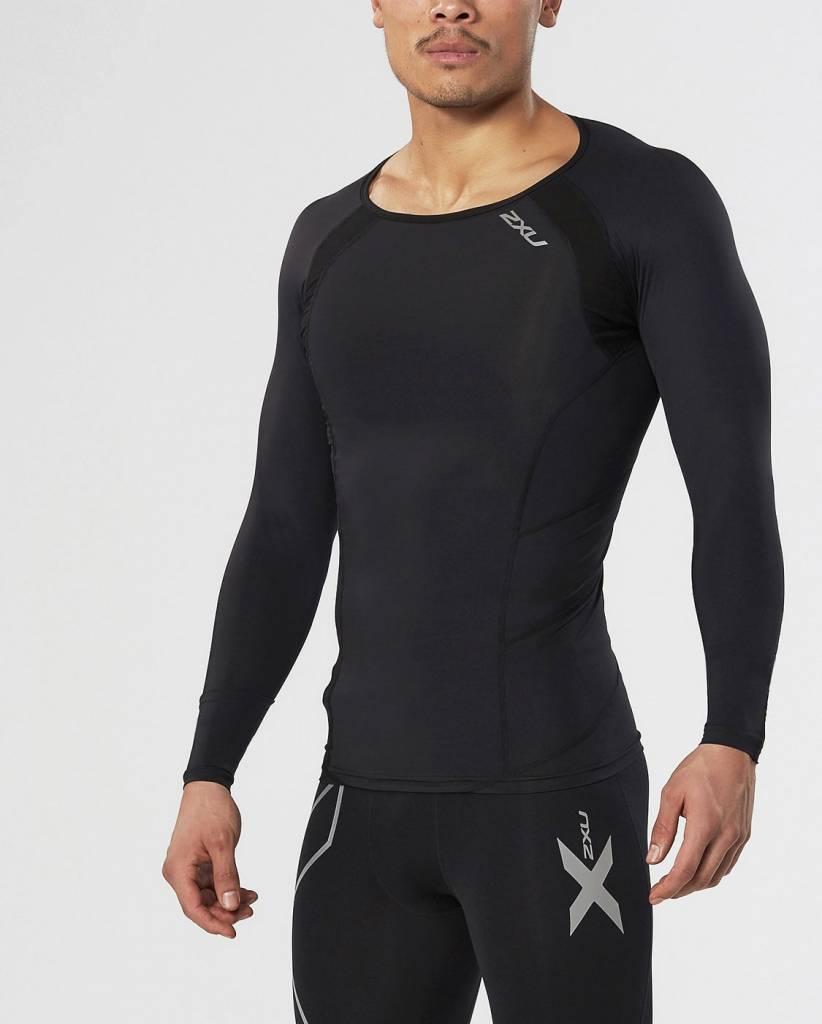 2XU North America Men's Base Compression Long Sleeve Top MA2308a