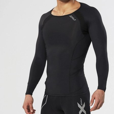 2XU Men's Base Compression Long Sleeve Top MA2308a