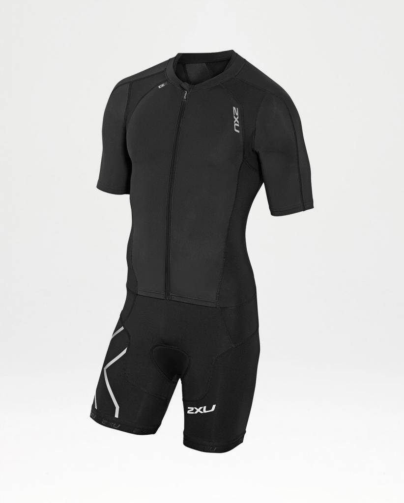 2XU North America 2XU Men's Compression Full-Zip Sleeved Trisuit