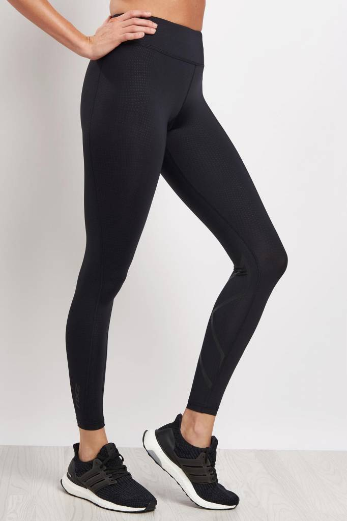 """2XU North America Women's Mid-Rise Compression Tights 7/8"""" with Storage"""