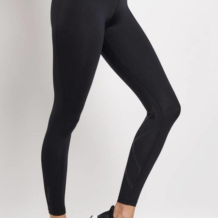 """2XU Women's Mid-Rise Compression Tights 7/8"""" with Storage"""
