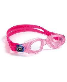 MOBY KID Goggle,  clear lens, pink w/blue buckle