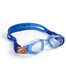 MOBY KID Goggle,  clear lens, blue w/orange buckle