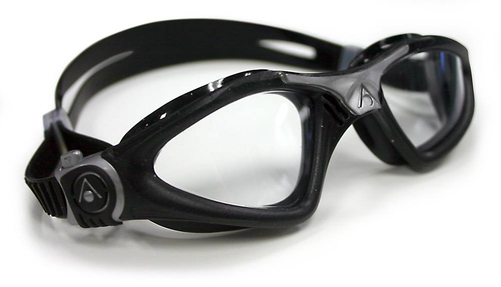 AquaSphere KAYENNE Goggle, clear lens, black w/silver accents