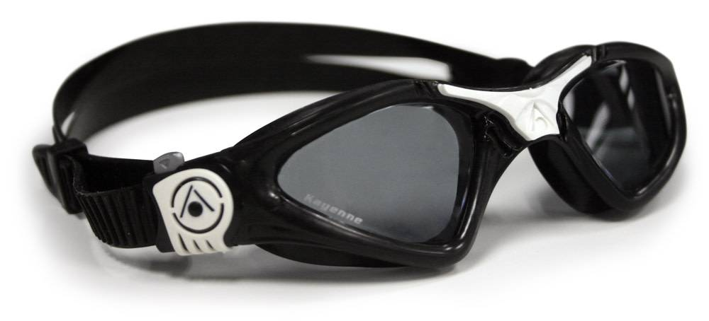 AquaSphere KAYENNE SF Goggle, smoke lens, black w/white accents