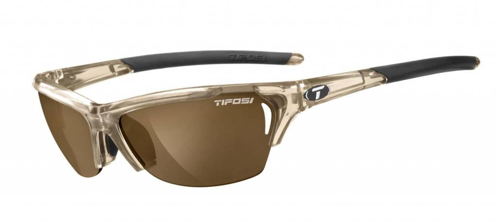 Tifosi Radius, Crystal Brown Polarized Fototec Sunglasses
