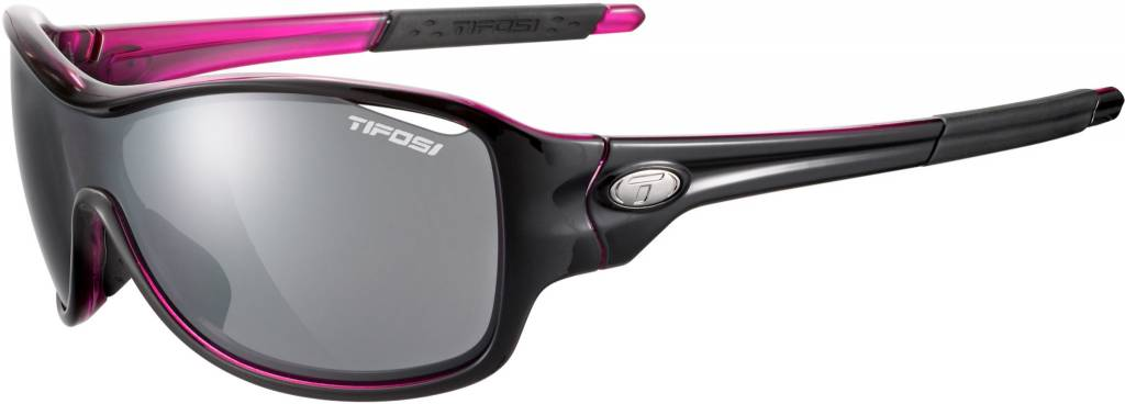 Tifosi Rumor, Black/Pink Interchangeable Sunglasses Smoke/AC Red/Clear Lenses