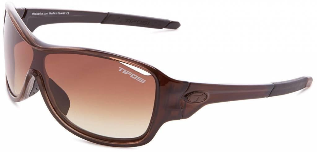 Tifosi Rumor, Crystal Brown Interchangeable Sunglasses Brown Grad/AC Red/Clear Lenses