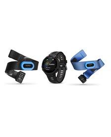 Garmin GPS Running Watch With Wrist Based Heart Rate Forerunner 735XT Tri-Bundle, Black/Gray