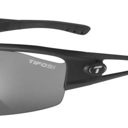 Tifosi Logic, Matte Black Interchangeable Sunglasses Smoke/AC Red/Clear Lenses