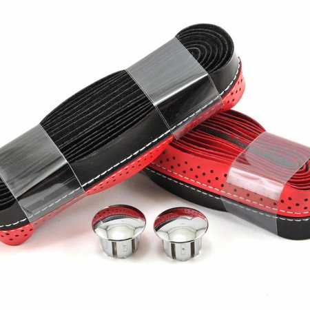 Serfas SERFAS BAR TAPE BLK/RED STITCH/PERF