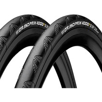 Continental Grand Prix 4000 S II 700 X 25 Black-BW + Black Chili