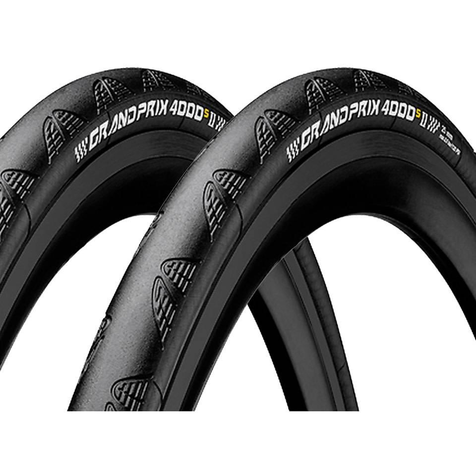 Continental Grand Prix 4000 S II 700 X 23 Black-BW + Black Chili