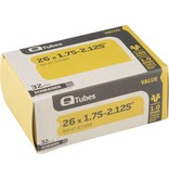 "Q-Tubes Q-Tubes Value Series Tube with Schrader Valve: 26"" x 1.75-2.125"""