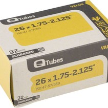 "Q-Tubes Value Series Tube with Schrader Valve: 26"" x 1.75-2.125"""