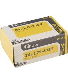 "Q-Tubes Value Series Tube with Schrader Valve: 26"" x 1.75-2.125"""