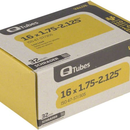 "Q-Tubes Q-Tubes Value Series Tube with Low Lead Schrader Valve: 16"" x 1.75-2.125"""