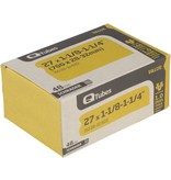 "Q-Tubes Q-Tubes Value Series Tube with Long (48mm) Schrader Valve: 27"" x 1-1/8-1-1/4"" (700 x 28-32mm)"