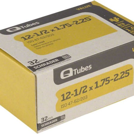 "Q-Tubes Q-Tubes Value Series Tube with Low Lead Schrader Valve: 12-1/2"" x 1.75-2.125"""