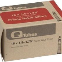 """Q-Tubes 16"""" x 1.5-1.75"""" 32mm Presta Valve Tube 88g TU6806"""
