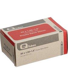 """Q-Tubes 20"""" x 1.25-1.5"""" 32mm Presta Valve Tube 92g TU6816"""