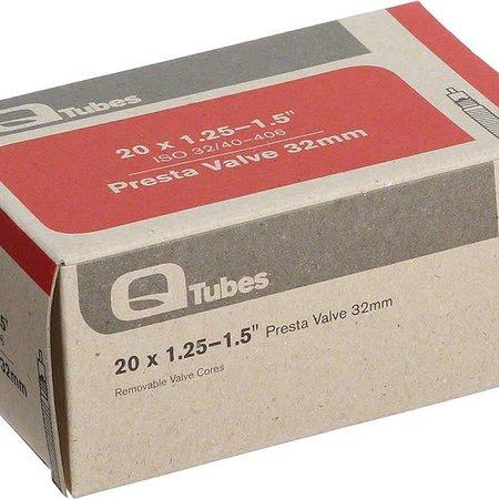 """Q-Tubes Q-Tubes 20"""" x 1.25-1.5"""" 32mm Presta Valve Tube 92g TU6816"""