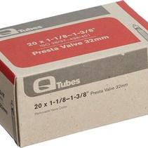 """Q-Tubes 20"""" x 1-1/8 - 1-3/8""""  32mm Presta Valve Tube 98g TU6826"""