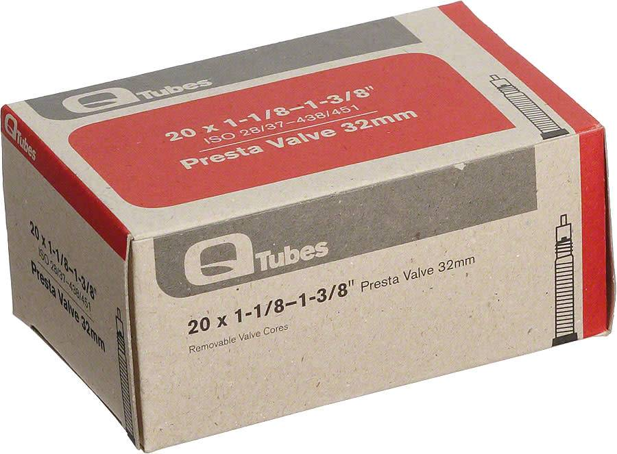 """Q-Tubes Q-Tubes 20"""" x 1-1/8 - 1-3/8""""  32mm Presta Valve Tube 98g TU6826"""