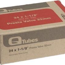 """Q-Tubes 24"""" x 1-1/8"""" 32mm Presta Valve Tube 92g TU6844"""
