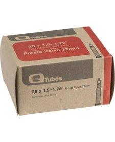"""Q-Tubes 26"""" x 1.5-1.75"""" 32mm Presta Valve Tube 152g TU6852"""