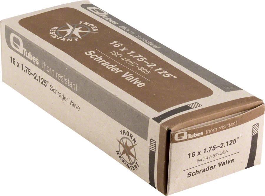 "Q-Tubes Q-Tubes Thorn Resistant 16 x 1.75-2.125"" Low Lead Schrader Valve Tube"