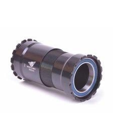 Wheels Manufacturing, Bottom bracket, 386EVO Threaded, For 30mm spindle, Steel Bearings