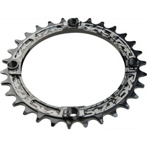 Race Face Narrow-Wide Single Ring 34t x 104 Black