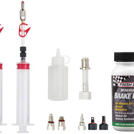 Jagwire Jagwire Pro Mineral Oil Bleed Kit Includes Shimano Magura Tektro Giant Adaptors