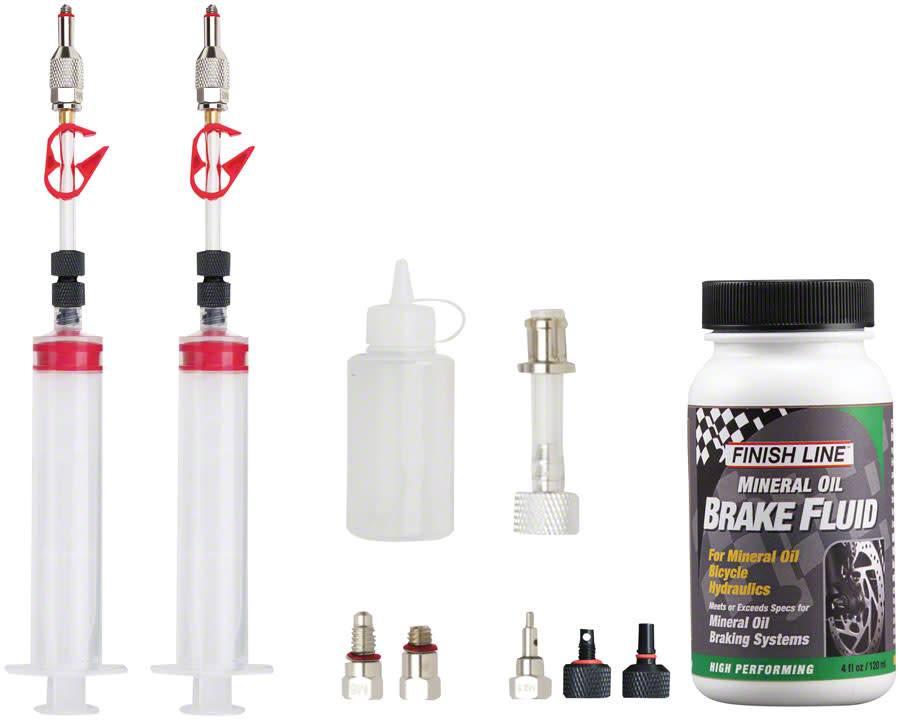 Jagwire Jagwire Pro Mineral Oil Bleed Kit Includes Shimano Magura Tektro Giant Adaptors