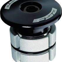 """FSA Compressor 1-1/8"""" Black Expander Plug and Top Cap"""